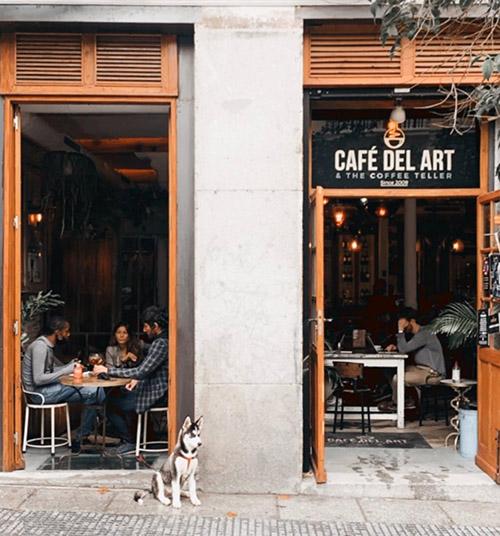 Cafe del Art. Las mejores cafeterias para estudiar en Madrid